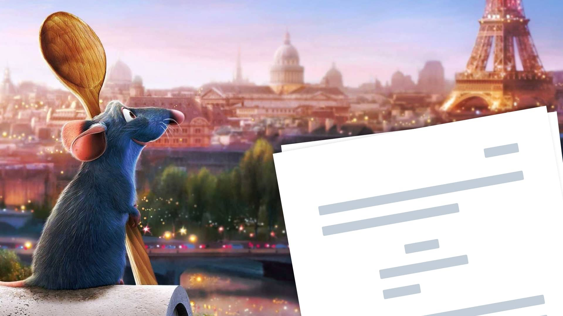Ratatouille Script Pdf Download Plot Characters And Ending