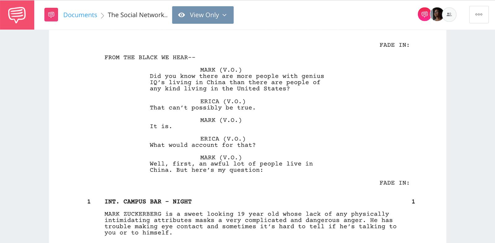 Screenwriter Salary - The Social Network - StudioBinder Screenwriting Software