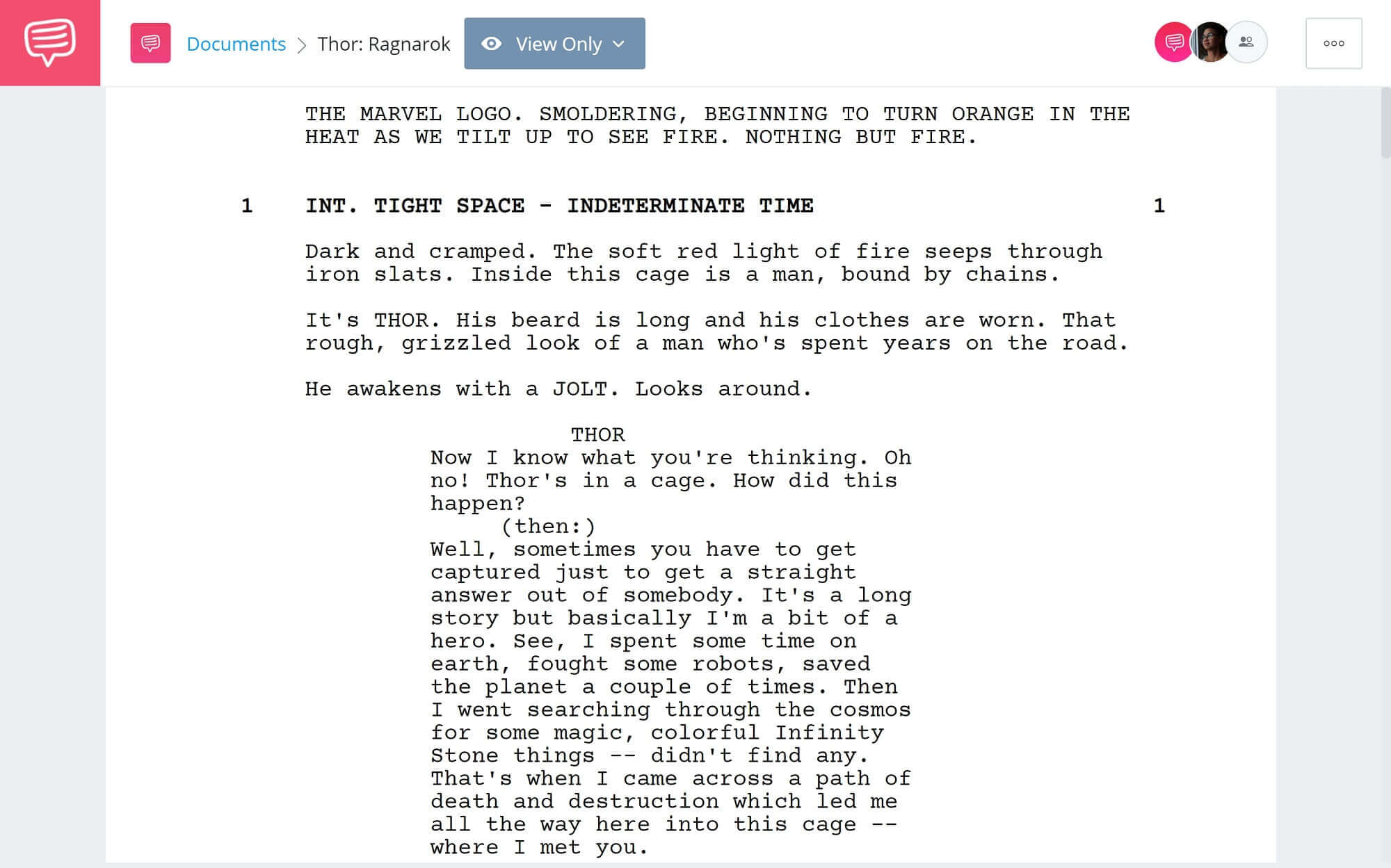 Thor Ragnarok Script Teardown - Full Script PDF Download - StudioBinder Scriptwriting Software