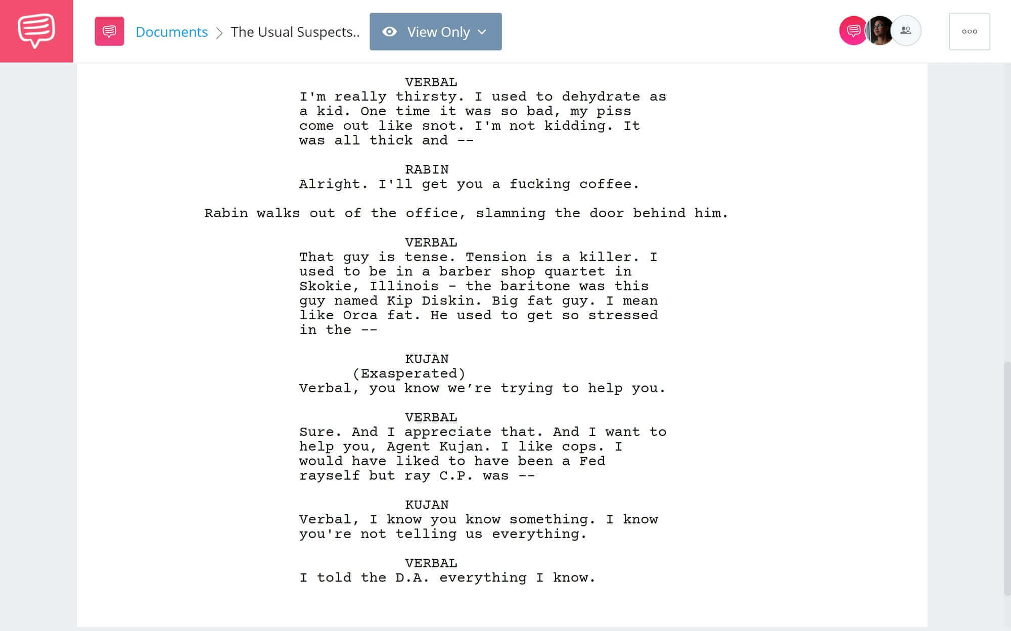 What is an Unreliable Narrator - The Usual Suspects Barber Shop Quartet - Studiobinder Scriptwriting Software