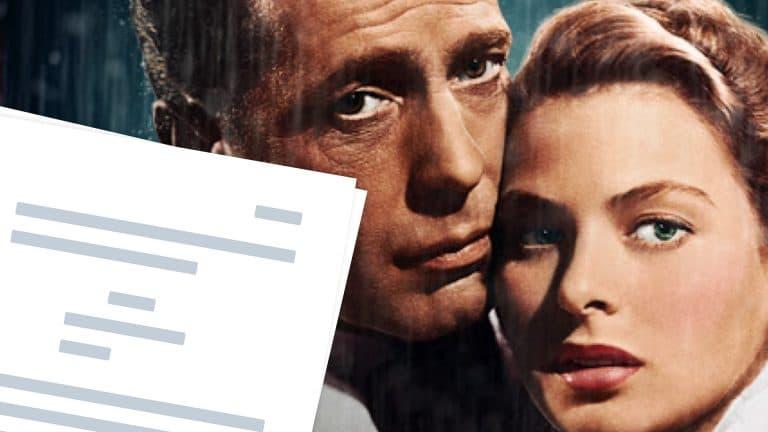 Casablanca Script PDF Download - Featured