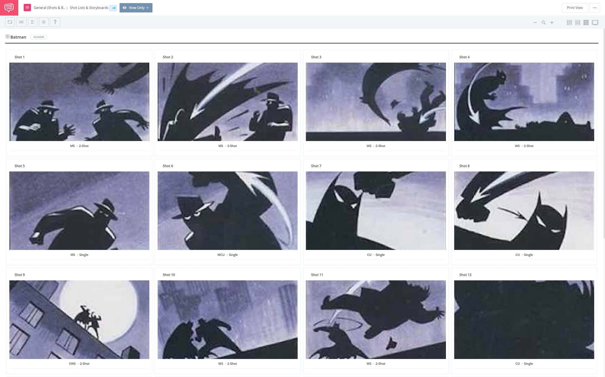 Film Storyboard Example - Batman The Animated Series Storyboard - StudioBinder Storyboarding Software
