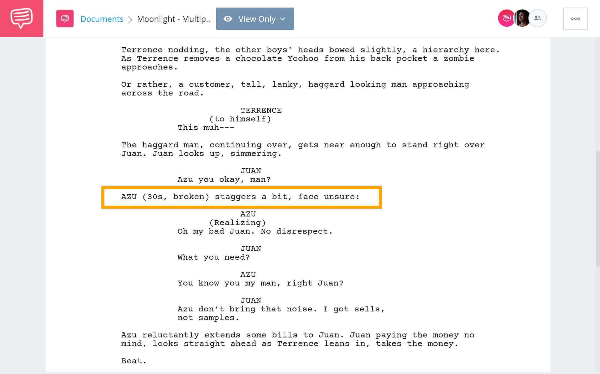 Moonlight-Script-Teardown-Azu-Introduction-StudioBinder-Screenwriting-Software-2