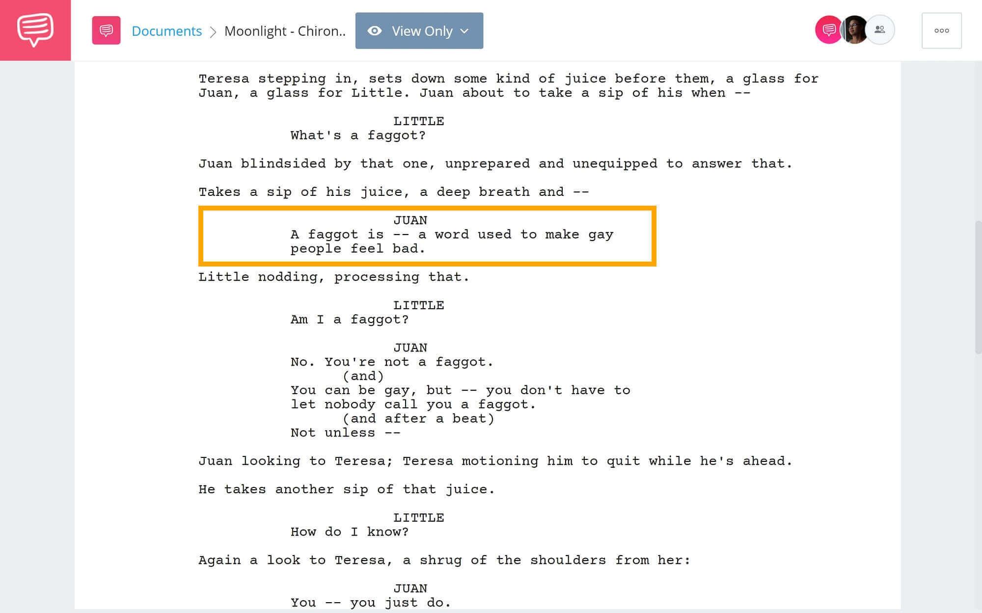 Moonlight-Script-Teardown-Chiron-and-Juans-Conversation-StudioBinder-Screenwriting-Software-2