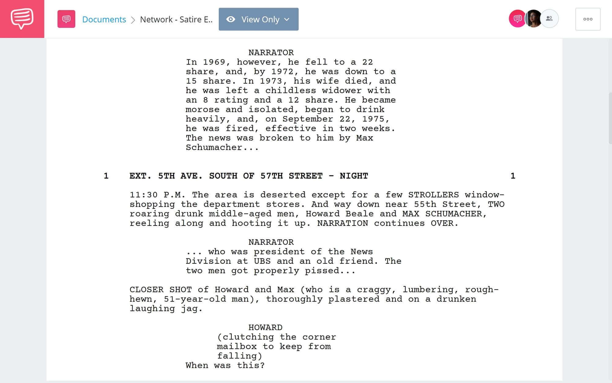 Satire Examples - Network Satire Examples - StudioBinder Scriptwriting Software