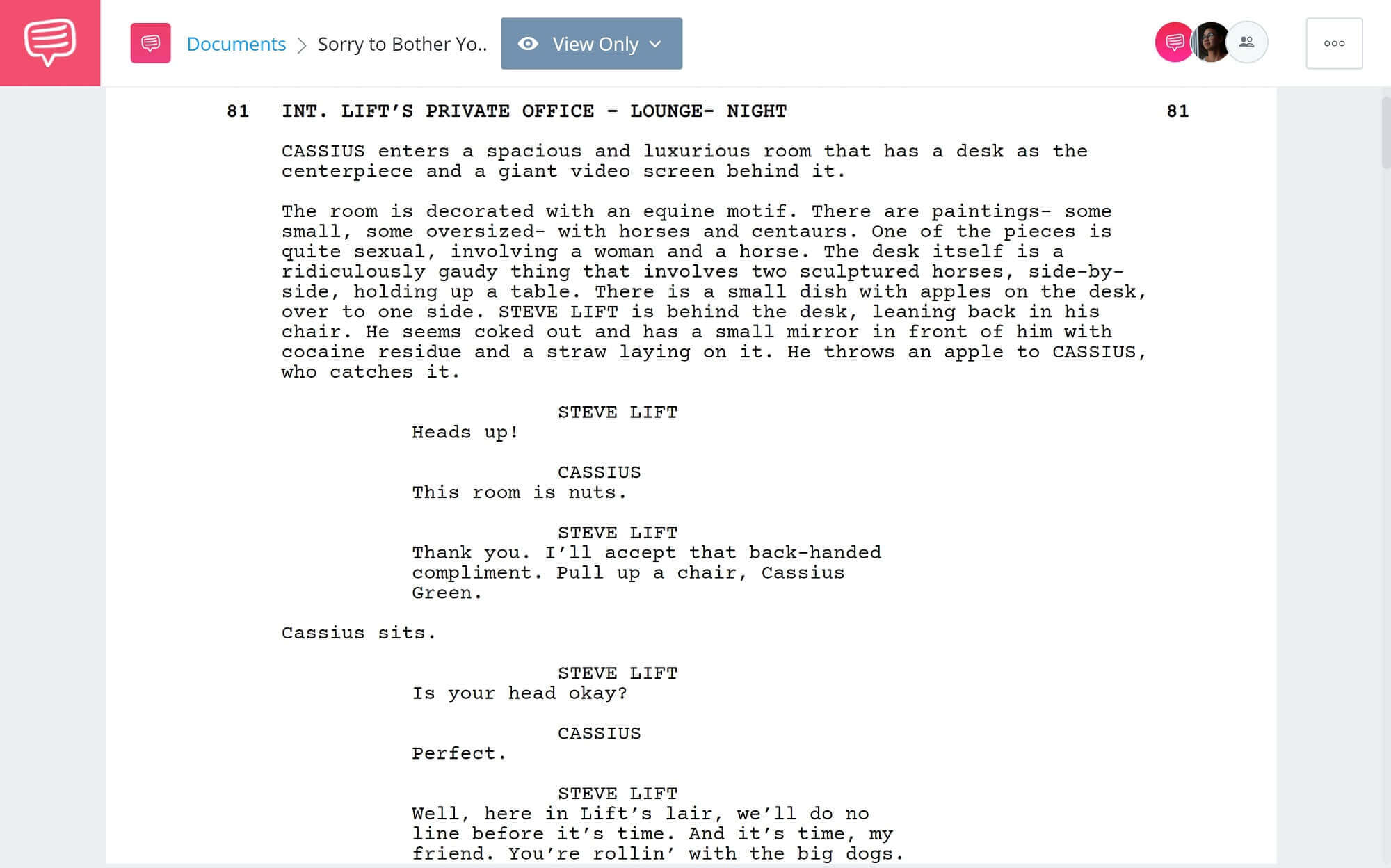 Satire Examples - Sorry to Bother You Satire Examples - StudioBinder Scriptwriting Software
