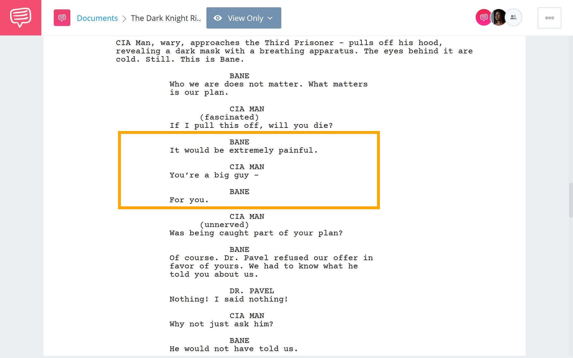The-Best-Bane-Quotes-Plane-Hijack-Scene-StudioBinder-Scriptwriting-Software