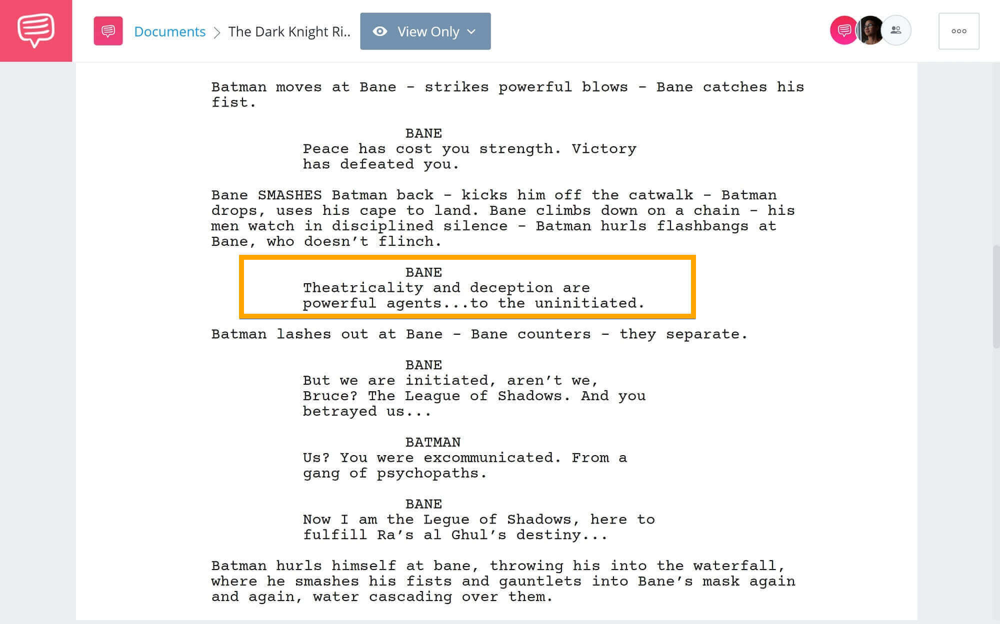 The-Best-Bane-Quotes-Sewer-Fight-Scene-StudioBinder-Scriptwriting-Software