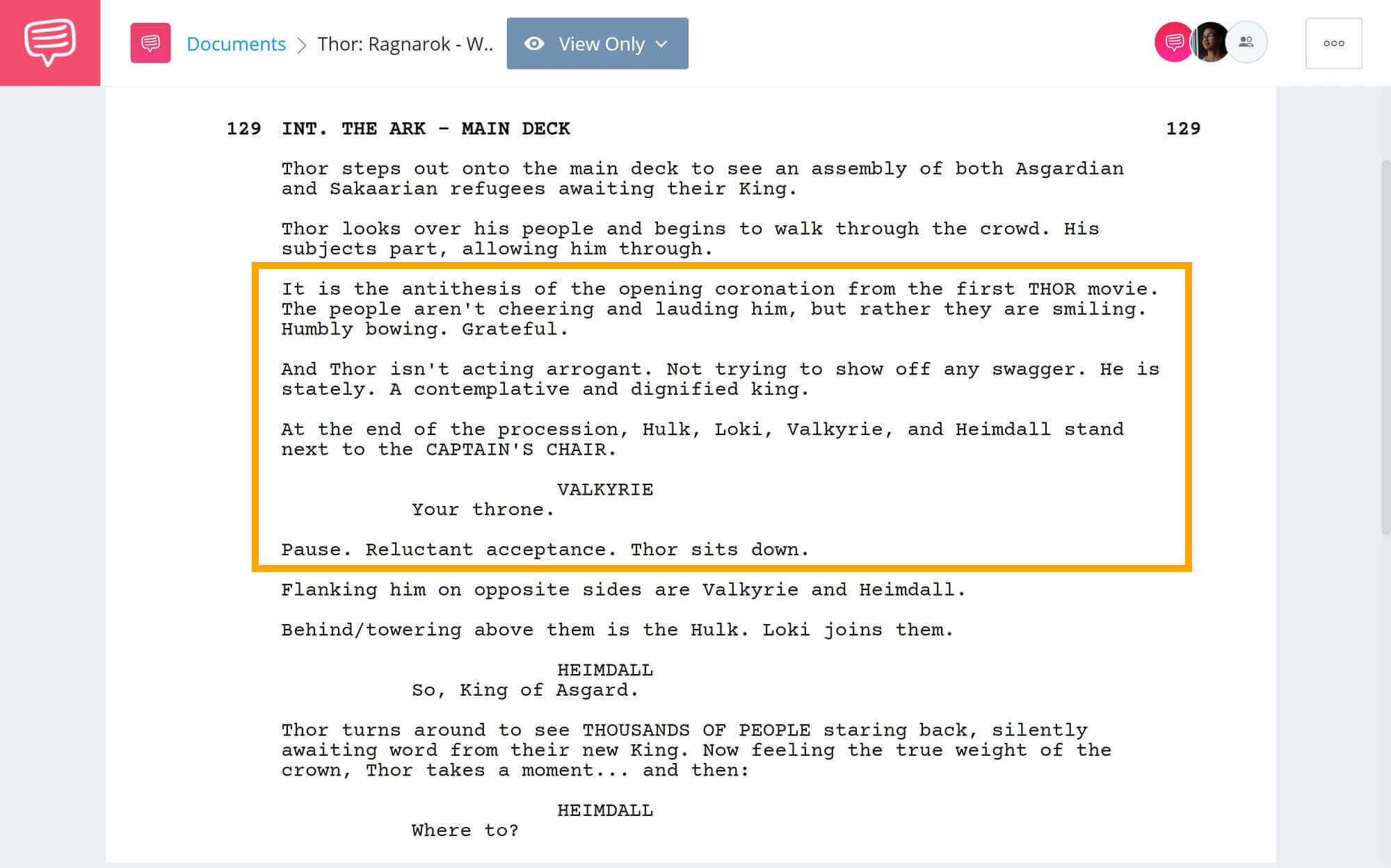 Thor-Ragnarok-Script-Teardown-Series-Where-To-StudioBinder-Scriptwriting-Software
