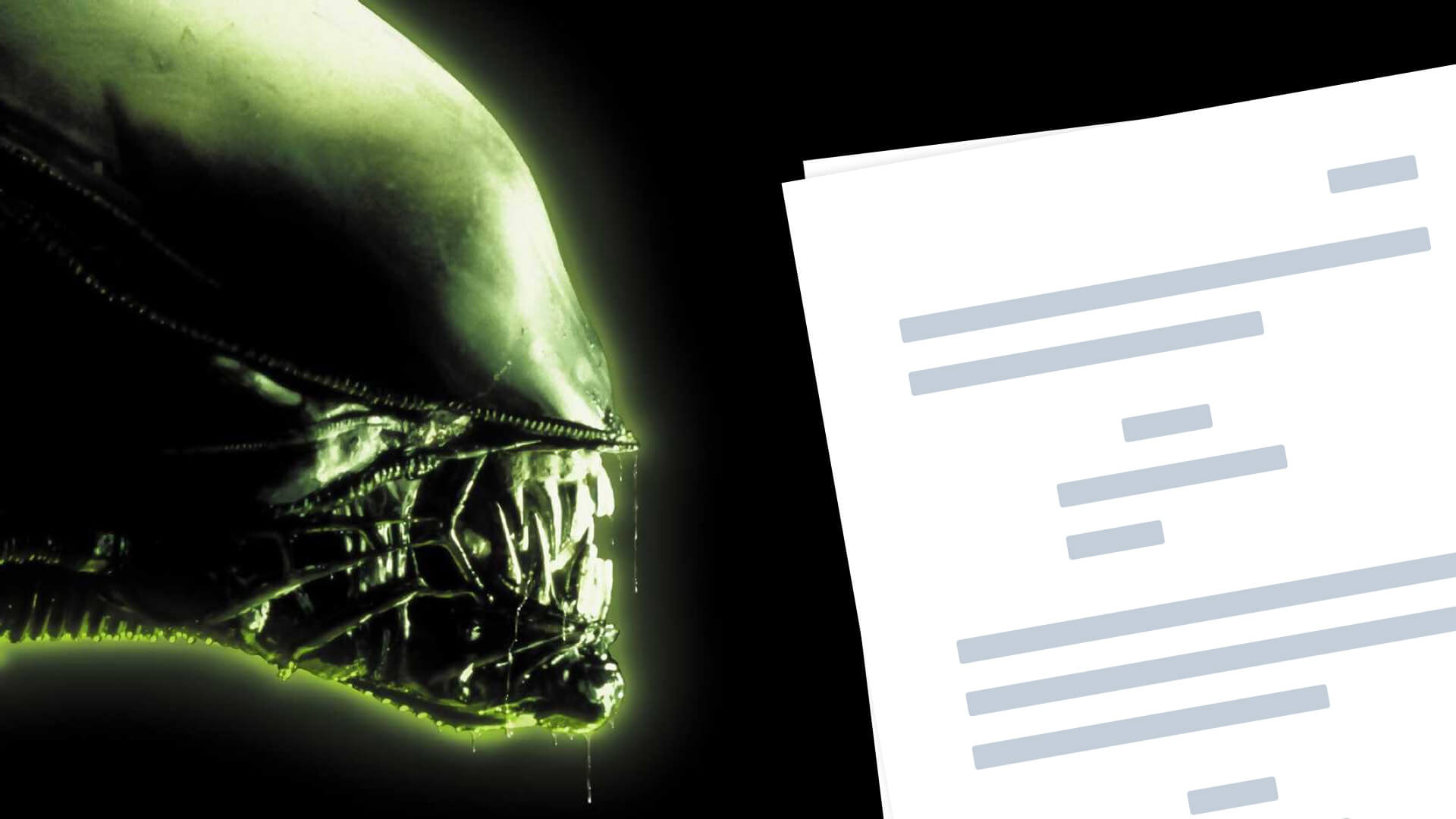 Alien Script PDF Download Quotes, Characters and Plot - Featured