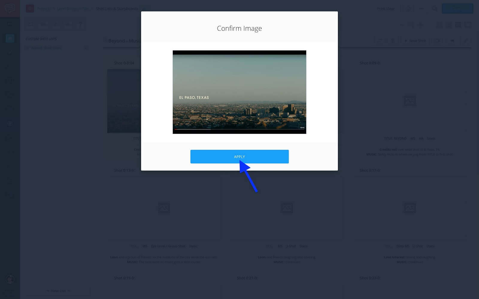 Confirm Imge - Click Apply