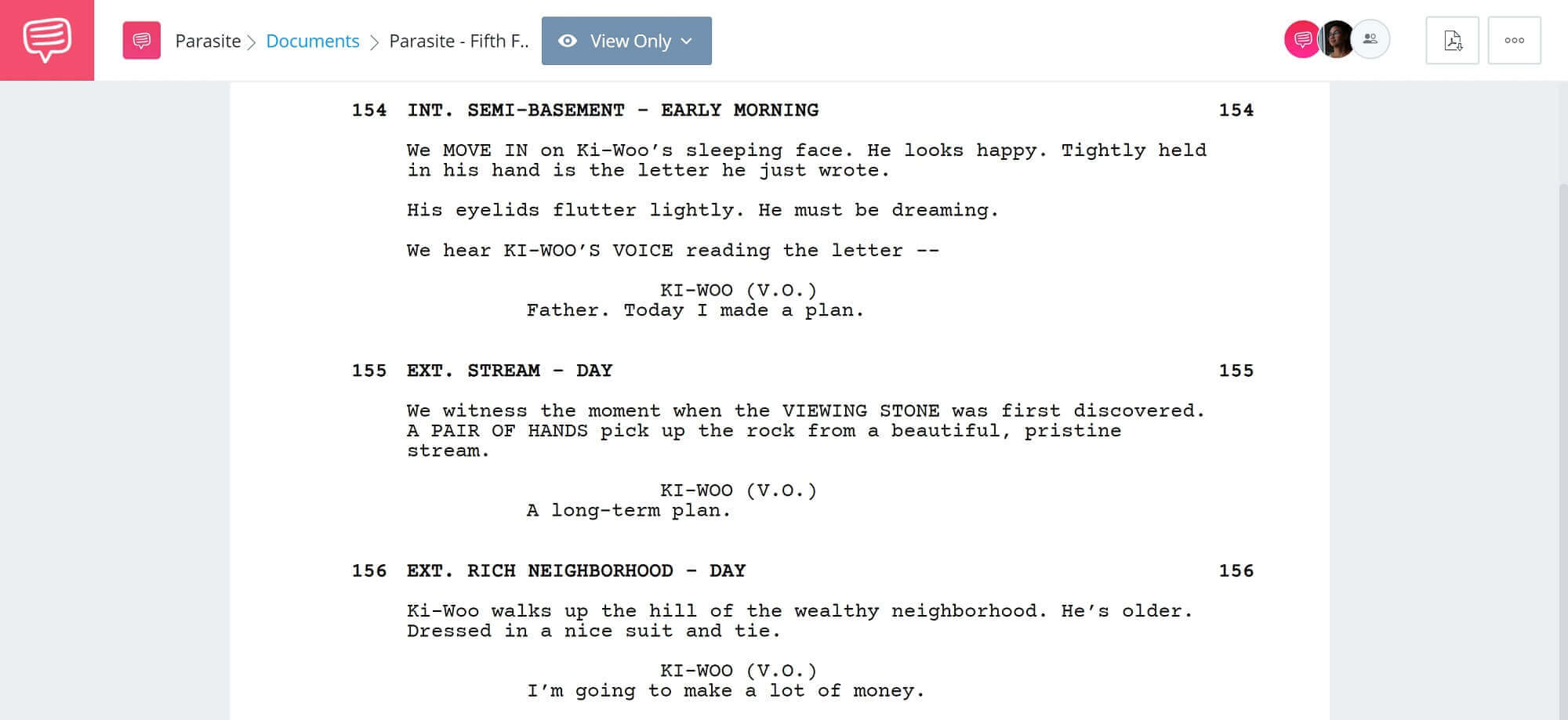 Foreshadowing Example From Movies and Literature - Fifth Foreshadowing Example from Parasite - StudioBinder Screenwriting Software