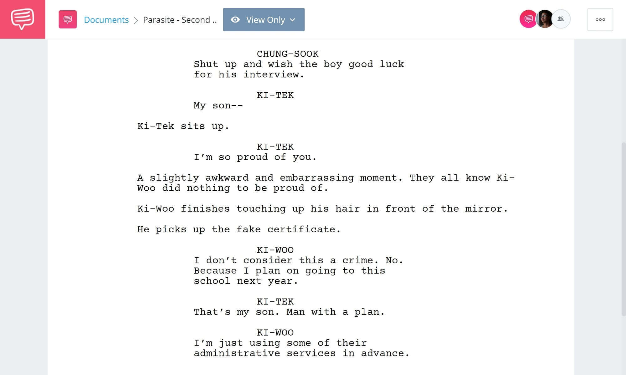Foreshadowing Example From Movies and Literature - Second Foreshadowing Example from Parasite - StudioBinder Screenwriting Software