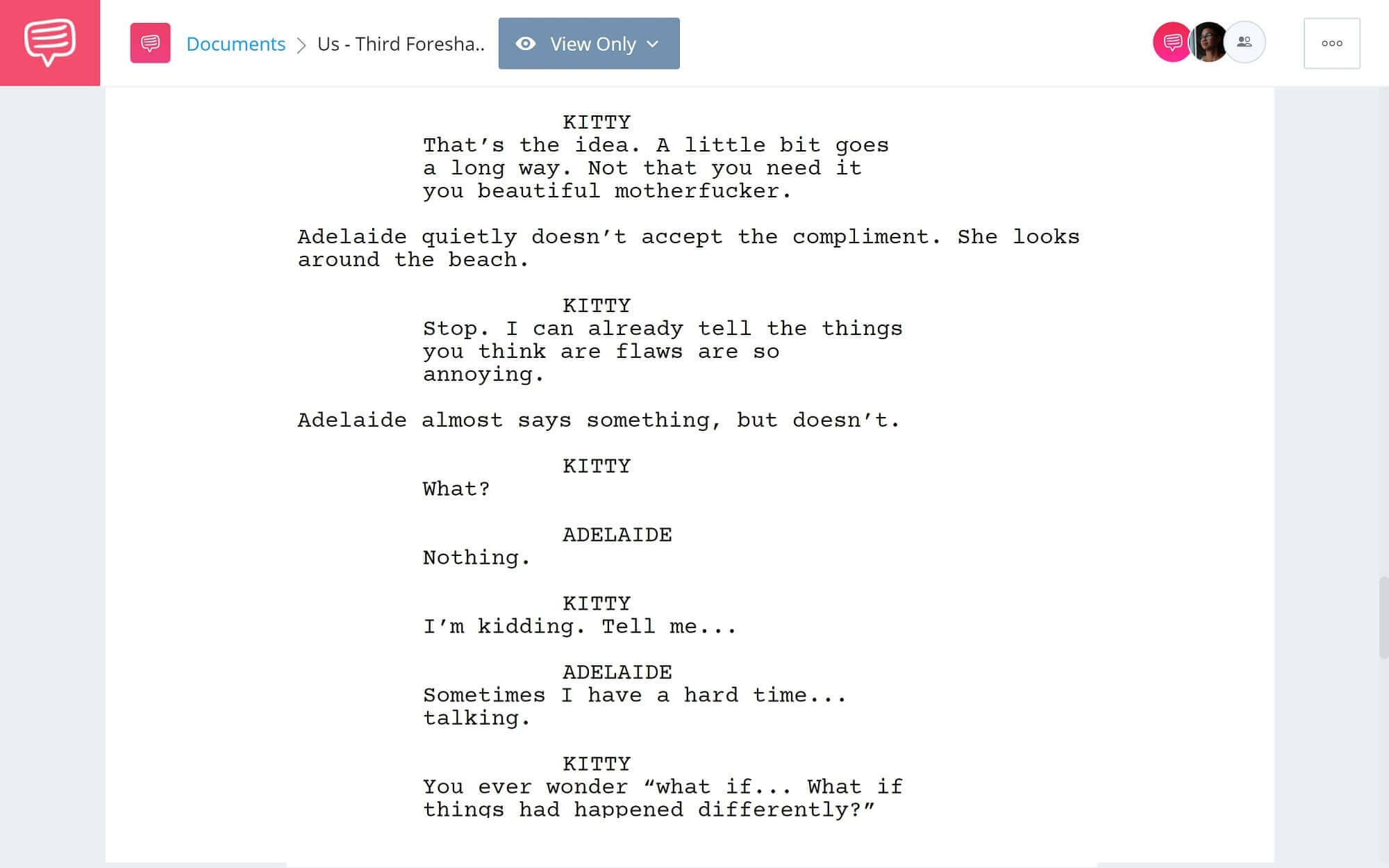 Foreshadowing Example From Us to Parasite - Third Foreshadowing Example from Us - StudioBinder Screenwriting Software