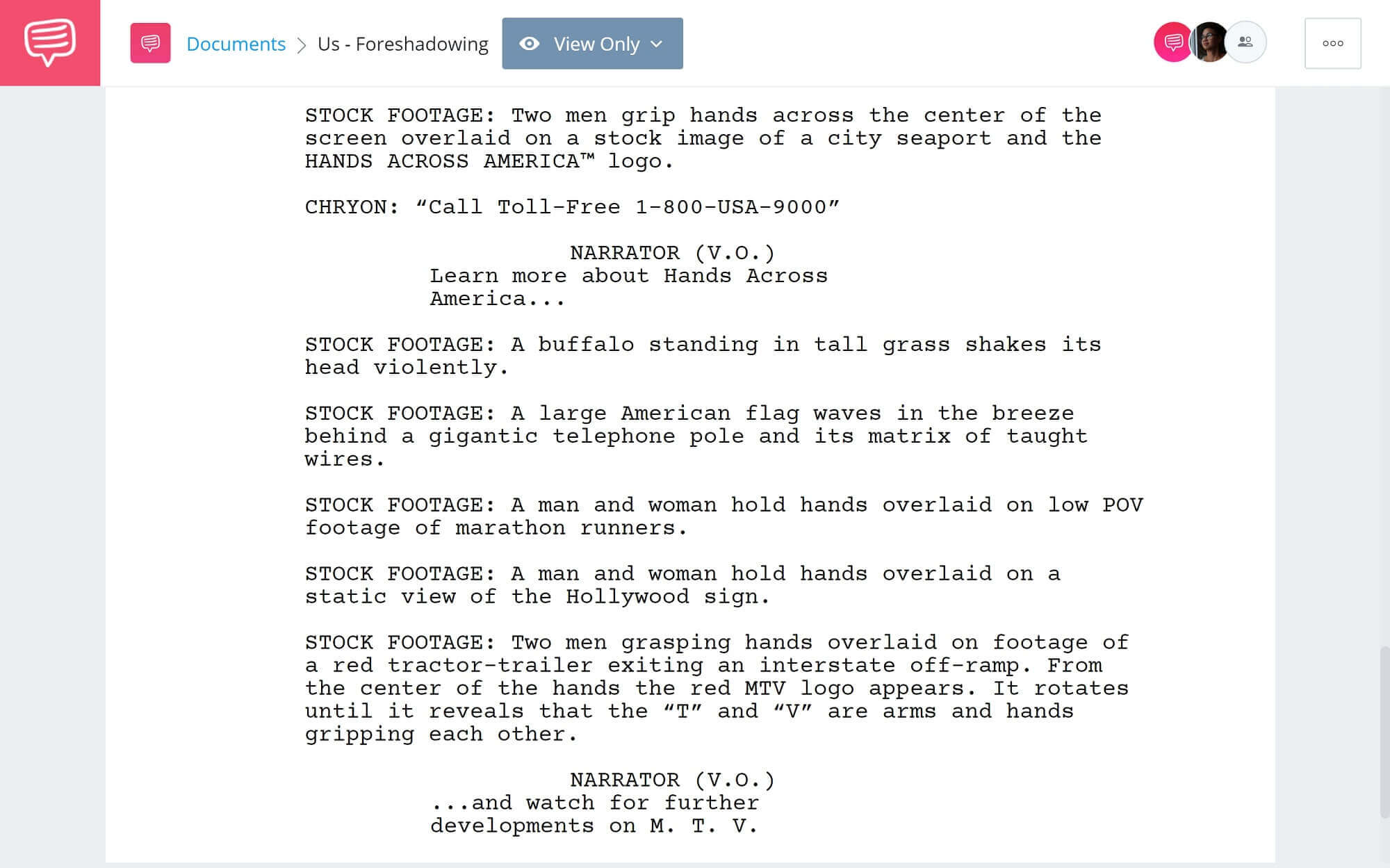Foreshadowing Examples - Us - StudioBinder Screenwriting Software