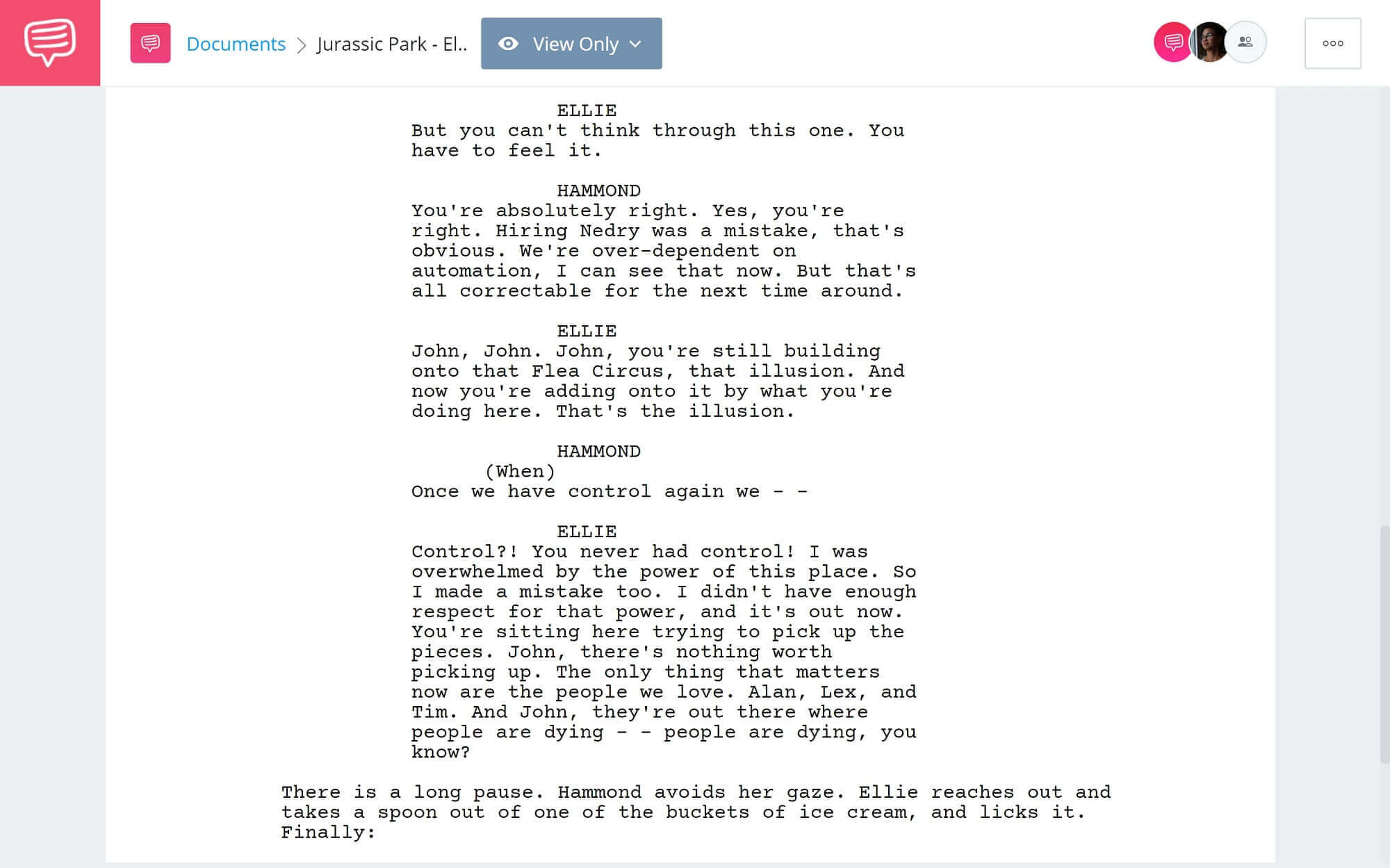 Jurassic Park Script Teardown - Ellie Rephimands Hammond - StudioBinder Screenwriting Software