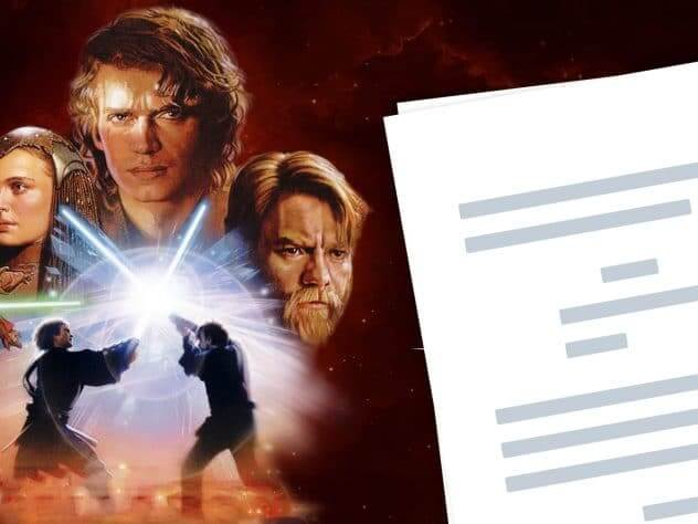 Star Wars Episode 3 Script Teardown - Featured