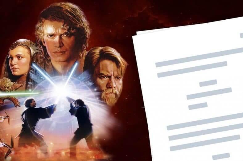 Star Wars Episode 3 Script Teardown - Featured