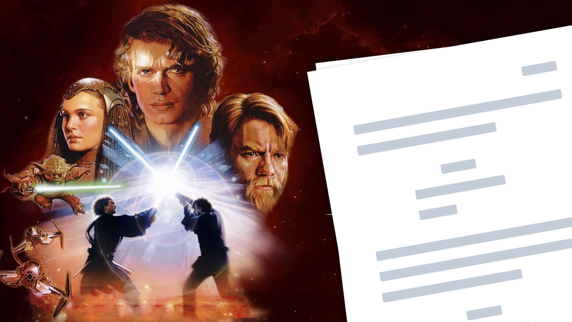 Revenge Of The Sith Script Pdf Download Plot Quotes And Analysis