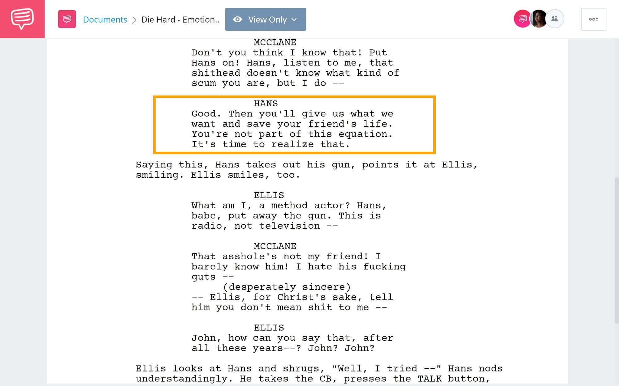 What is Story Beat - Die Hard Emotional Wiriting Script Example - StudioBinder Screenwriting Software (2) (1)
