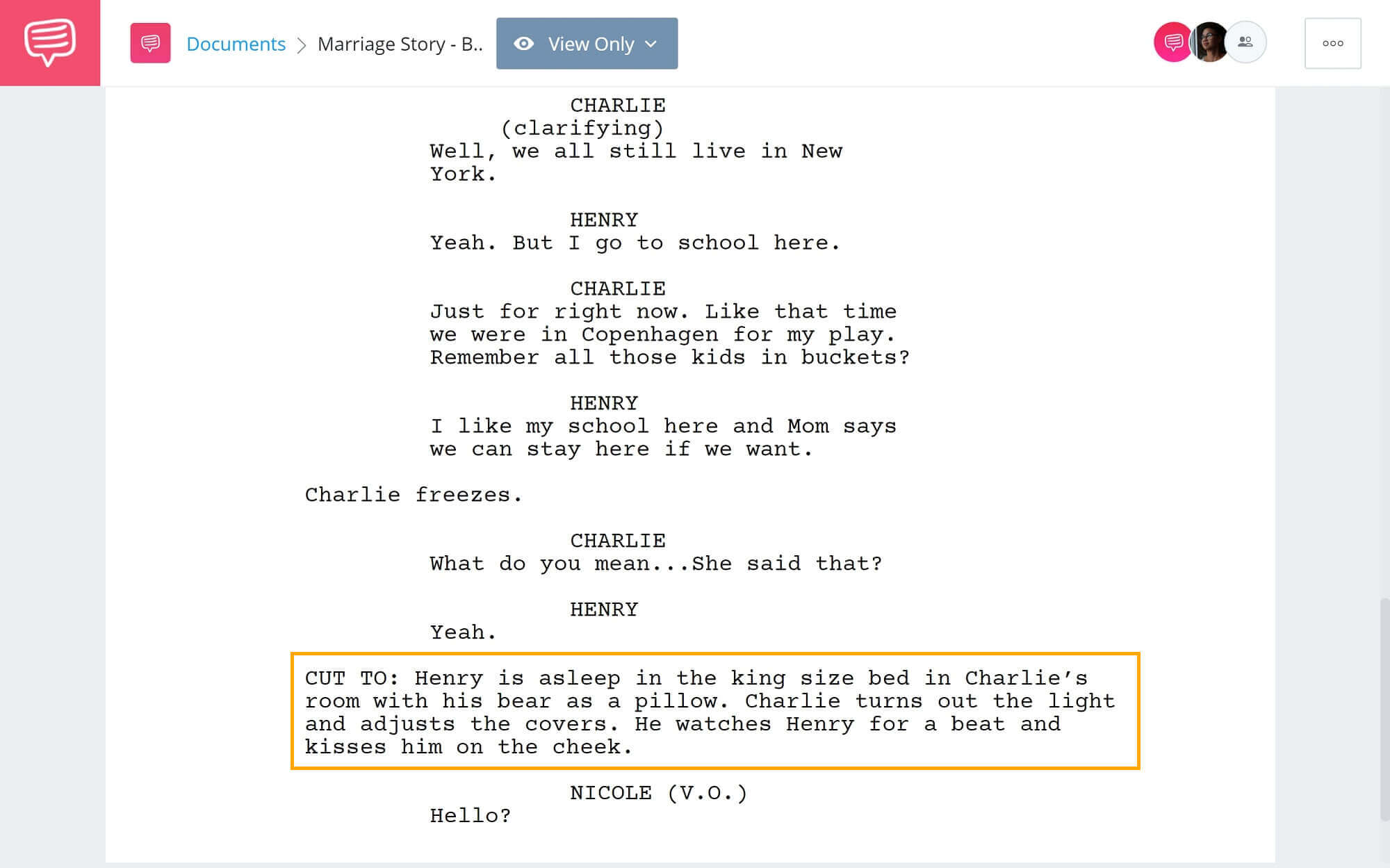 What is Story Beat - Marriage Story Beat Script Example - StudioBinder Screenwriting Software (1)