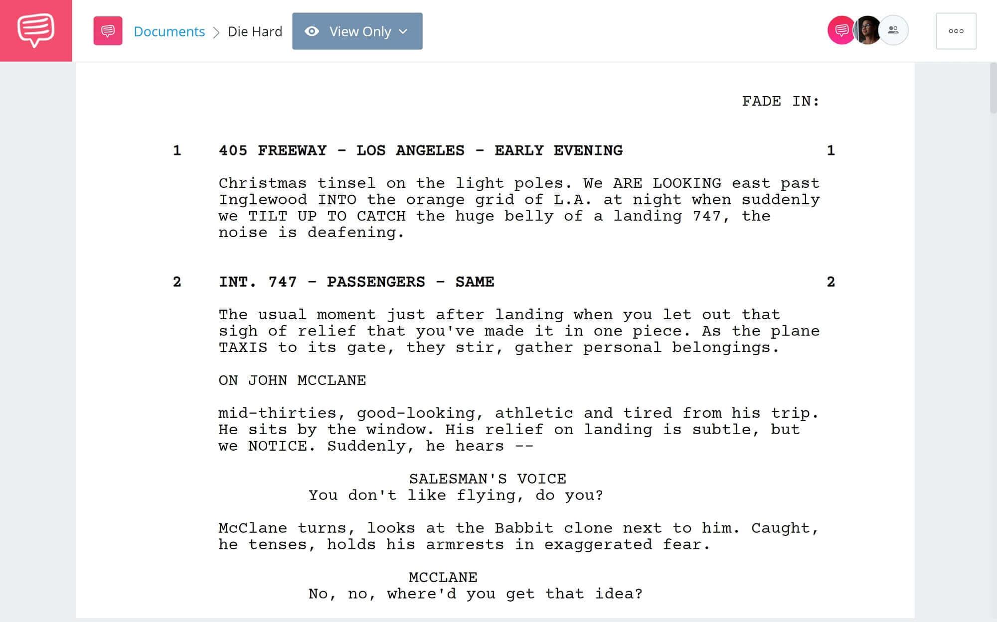 Die Hard Script Teardown - Full Script PDF Download - StudioBinder Screenwriting Software