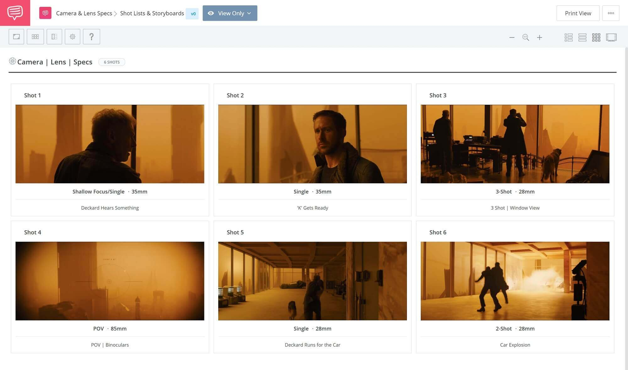 The Different Types of Camera Lenses - Blade Runner 2049 Shot-List - StudioBinder Shot-Listing Software
