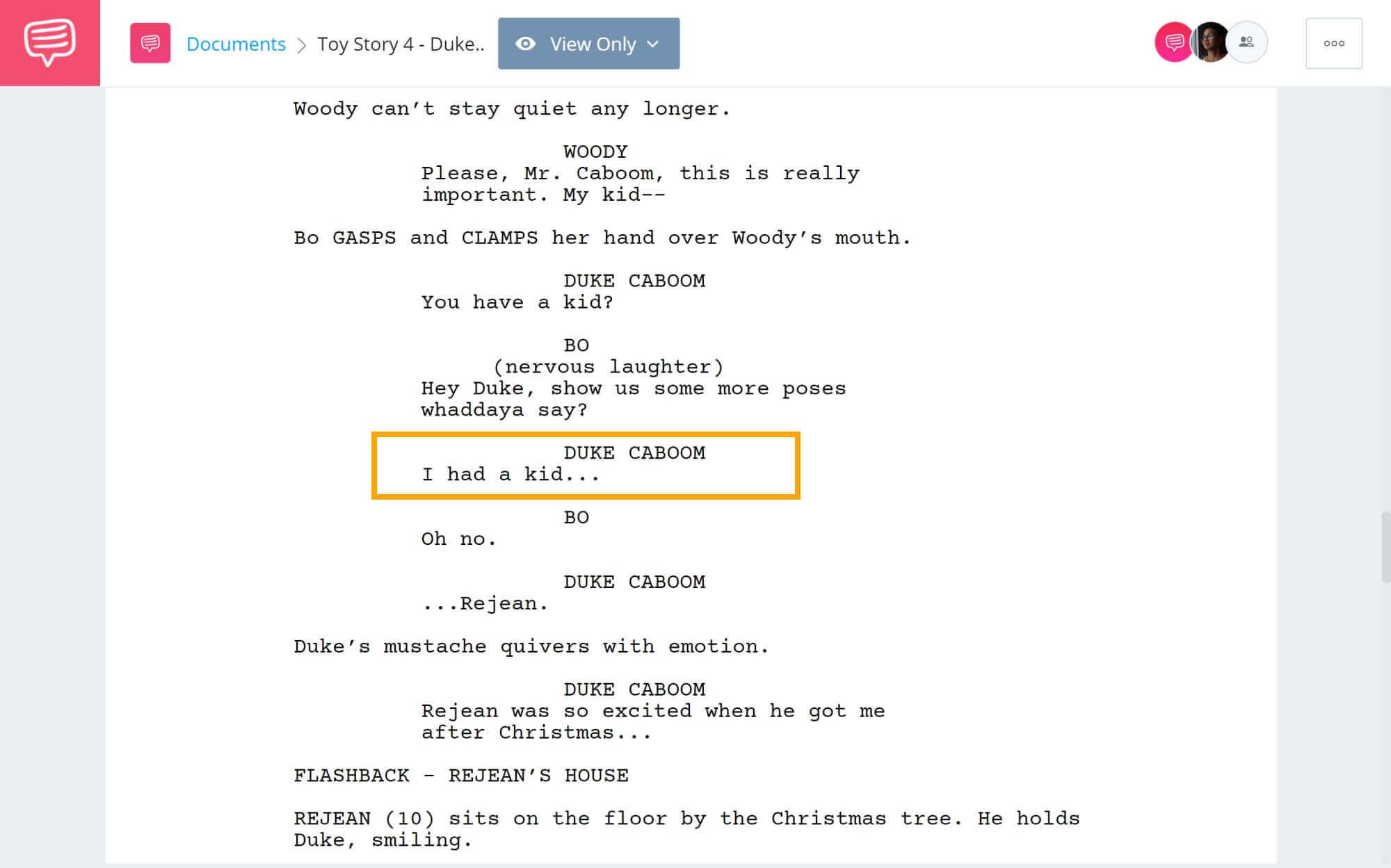 Toy Story 4 Script Teardown - Duke Caboom - StudioBinder Screenwriting Software