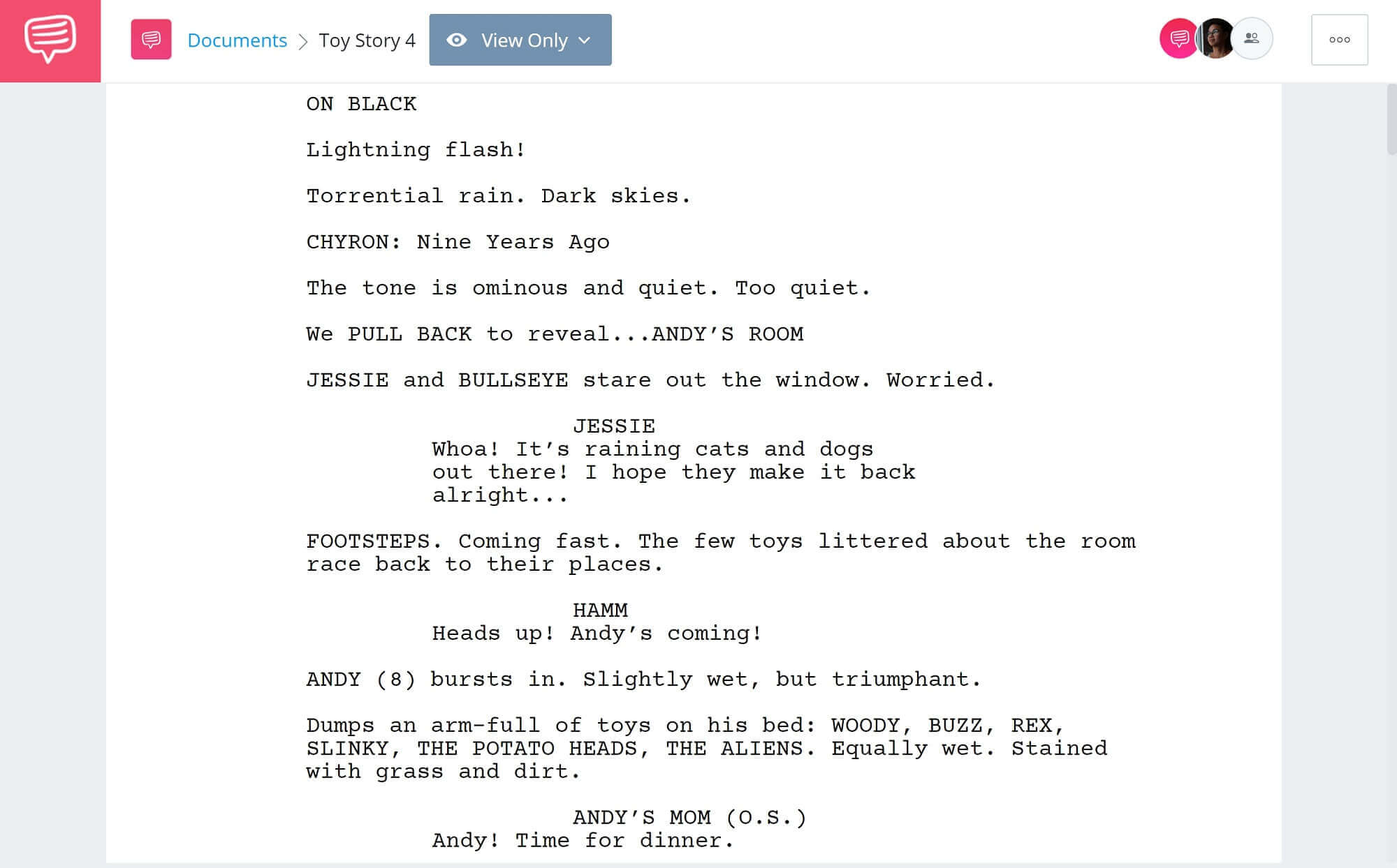 Toy Story 4 Script Teardown - Full Script PDF Download - StudioBinder Screenwriting Software