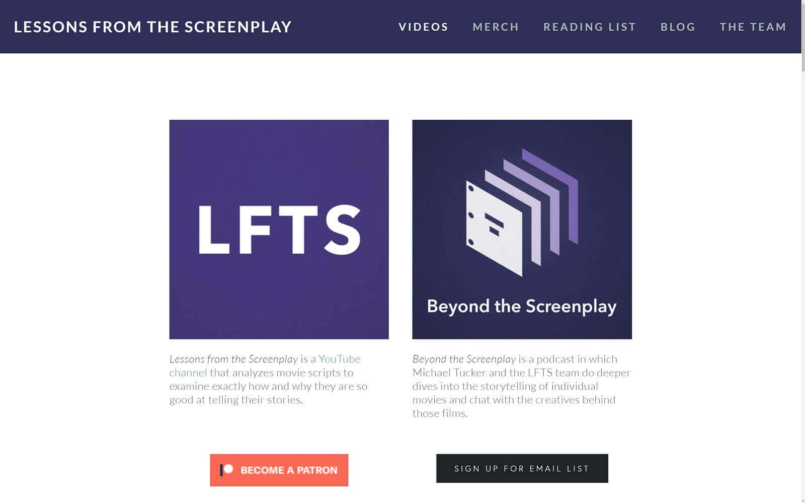 Best Screenwriting Websites - Lessons From The Screenplay