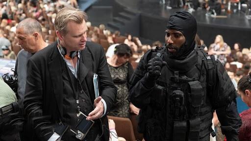 Behind the Scenes of Tenet Christopher Nolan and John David Washington