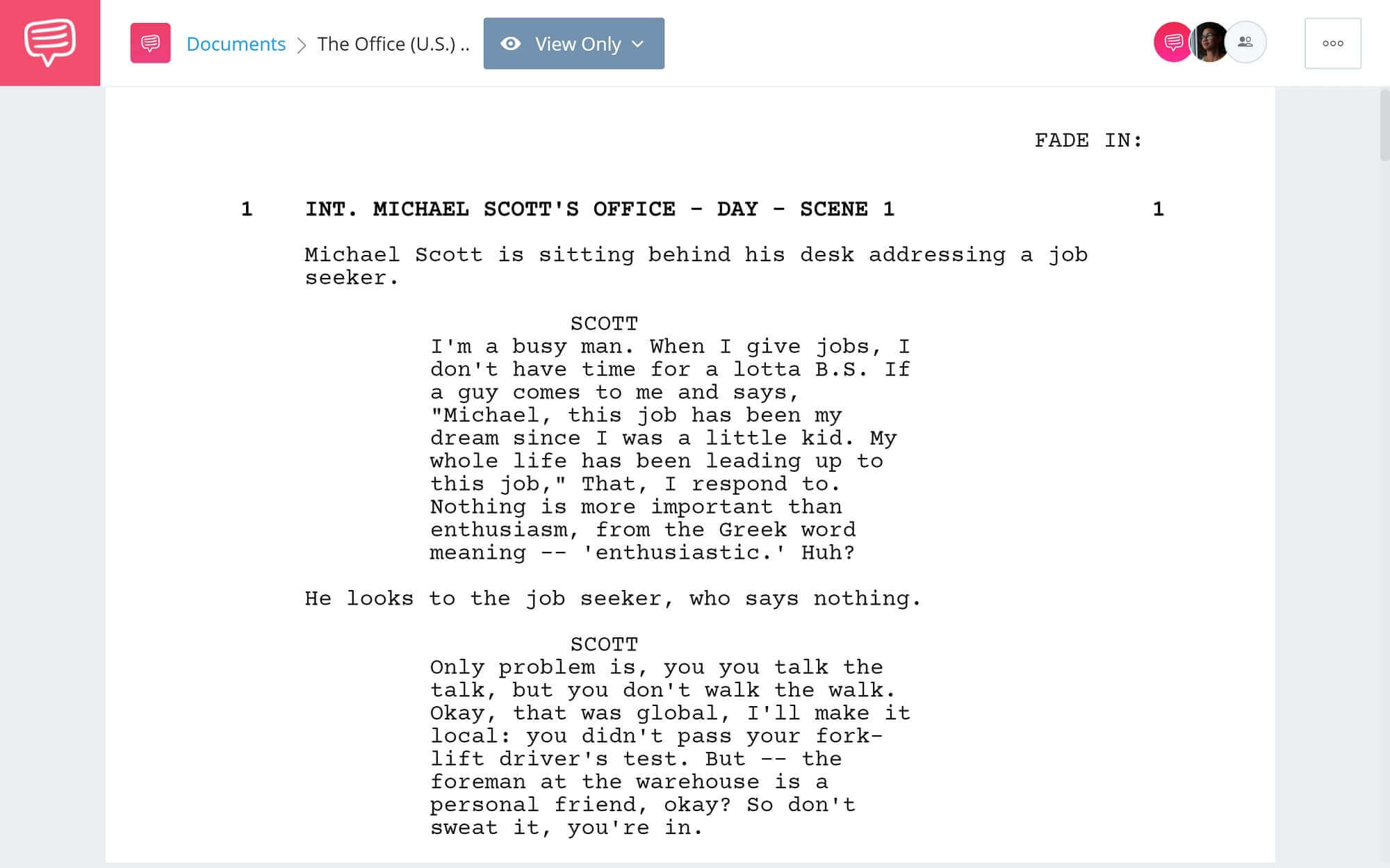Best Michael Scott Quotes - Full Script PDF Download - StudioBinder Screenwriting Software