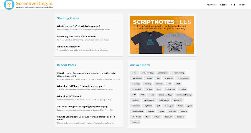Best Screenwriting Websites - ScreenwritingIO