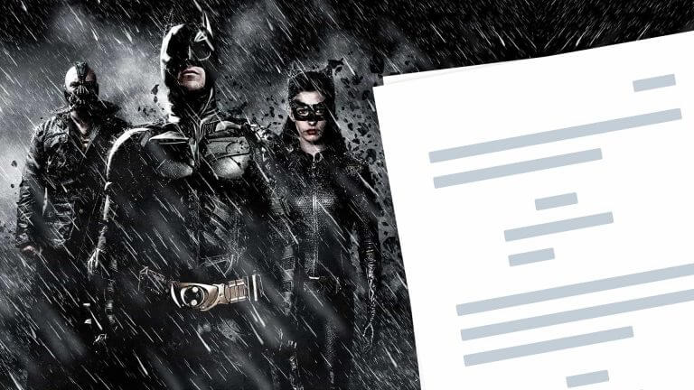 The Dark Knight Rises Script PDF Download Ending, Quotes, and Characters - Featured