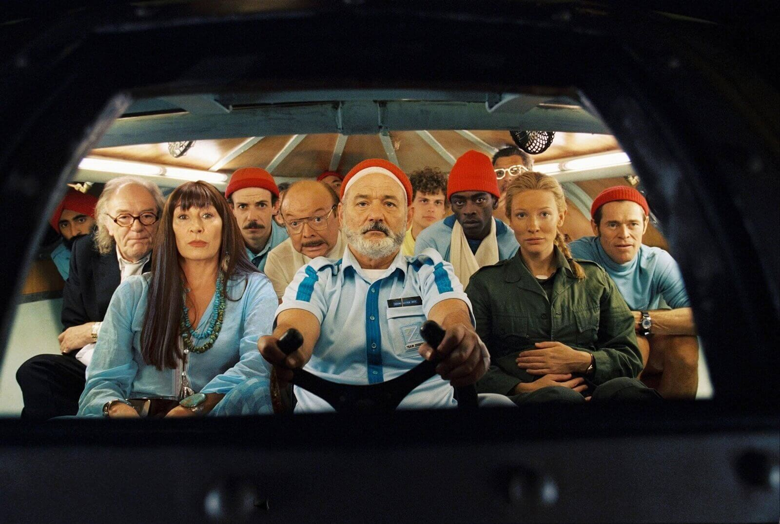 Wes Anderson Color Palette - Wes Anderson Colour Grading on Life Aquatic