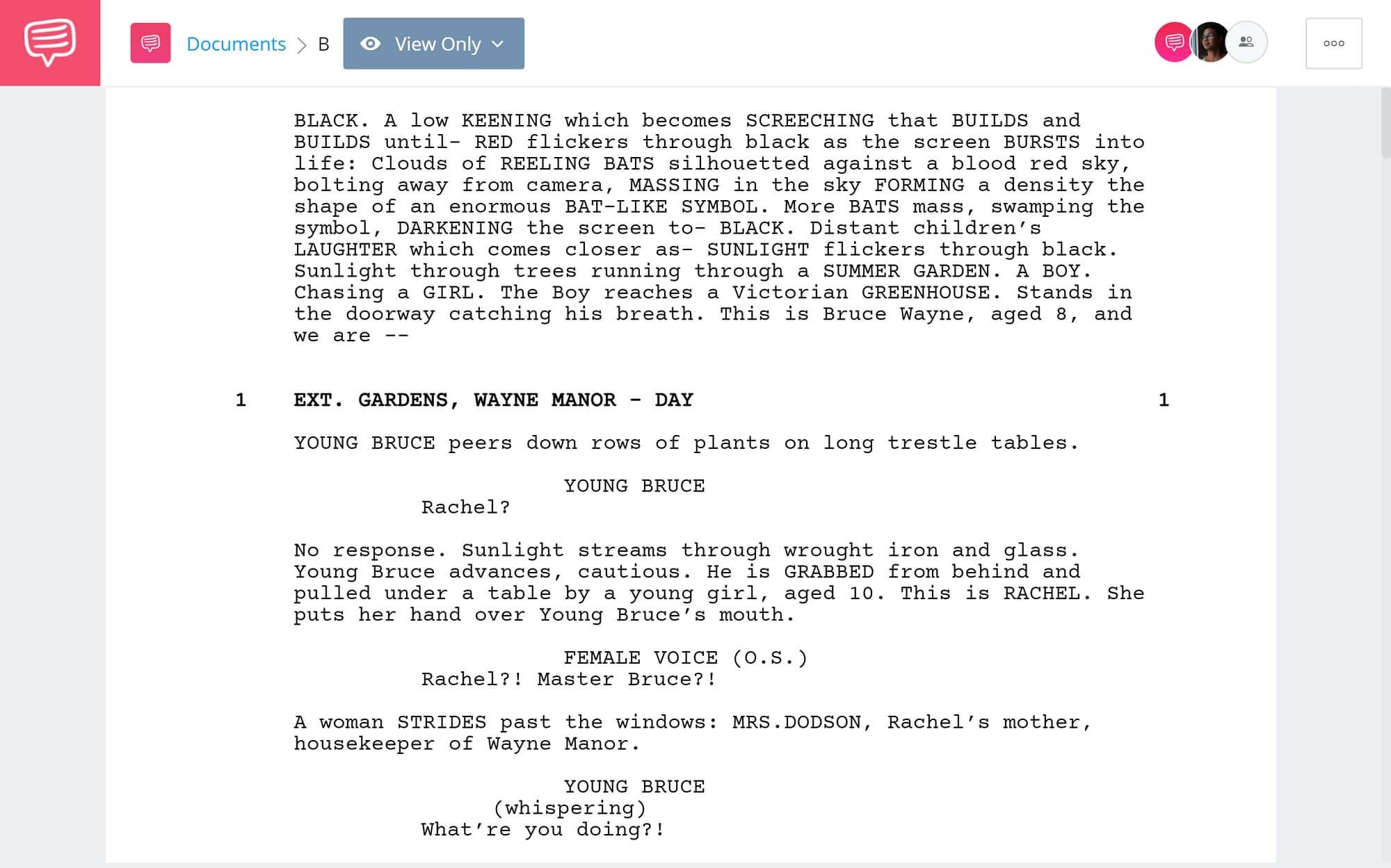 Batman Begins Script Teardown - Full Script PDF Download - StudioBinder Screenwriting Software