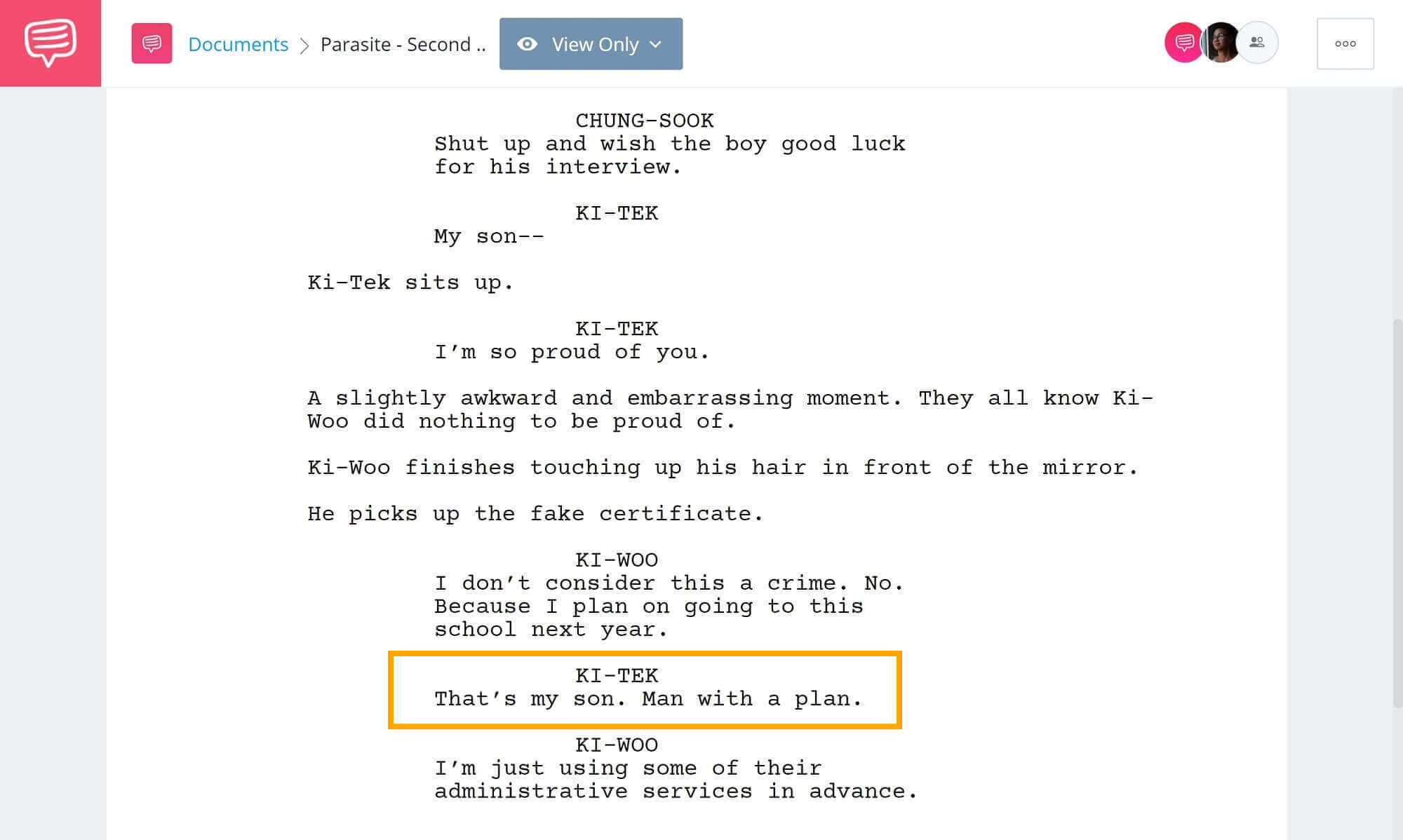 Foreshadowing-Example-From-Movies-and-Literature-Second-Foreshadowing-Example-from-Movie Parasite StudioBinder-Screenwriting-Software