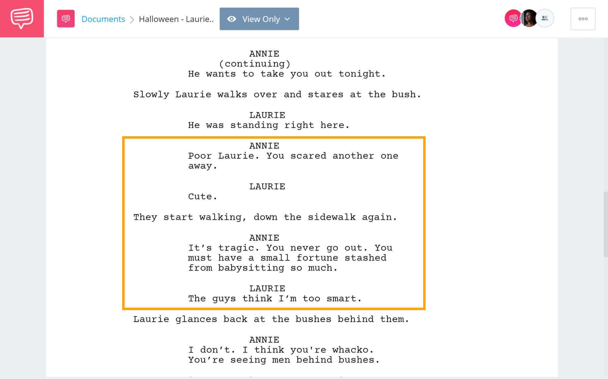 Halloween Script Teardown - Laurie Can't Get A Date - StudioBinder Screenwriting Software