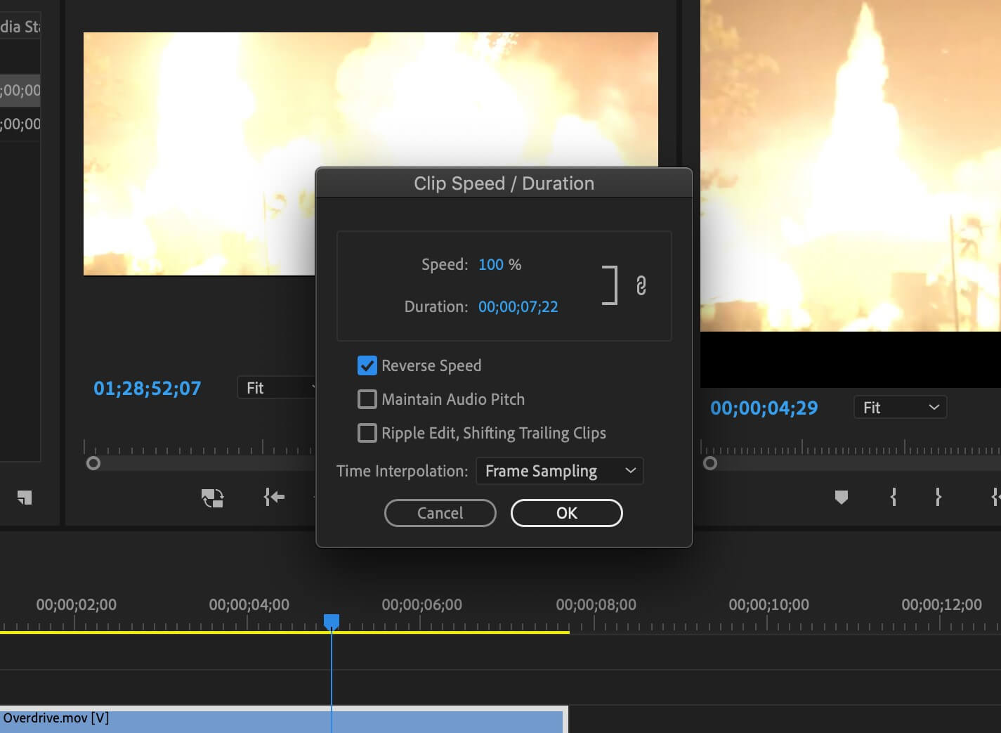 How To Reverse a Clip im Premiere Pro - Fourth Image
