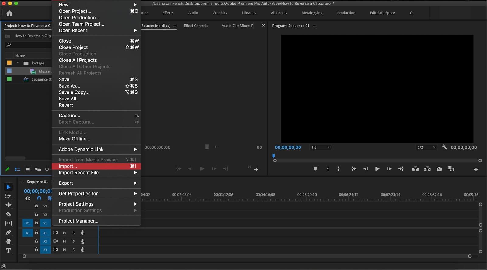 How To Reverse a Clip im Premiere Pro - Reverse Video in Premiere