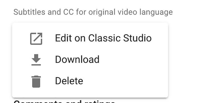 How to Add Subtitles to YouTube Video - Edit on Classic Studio