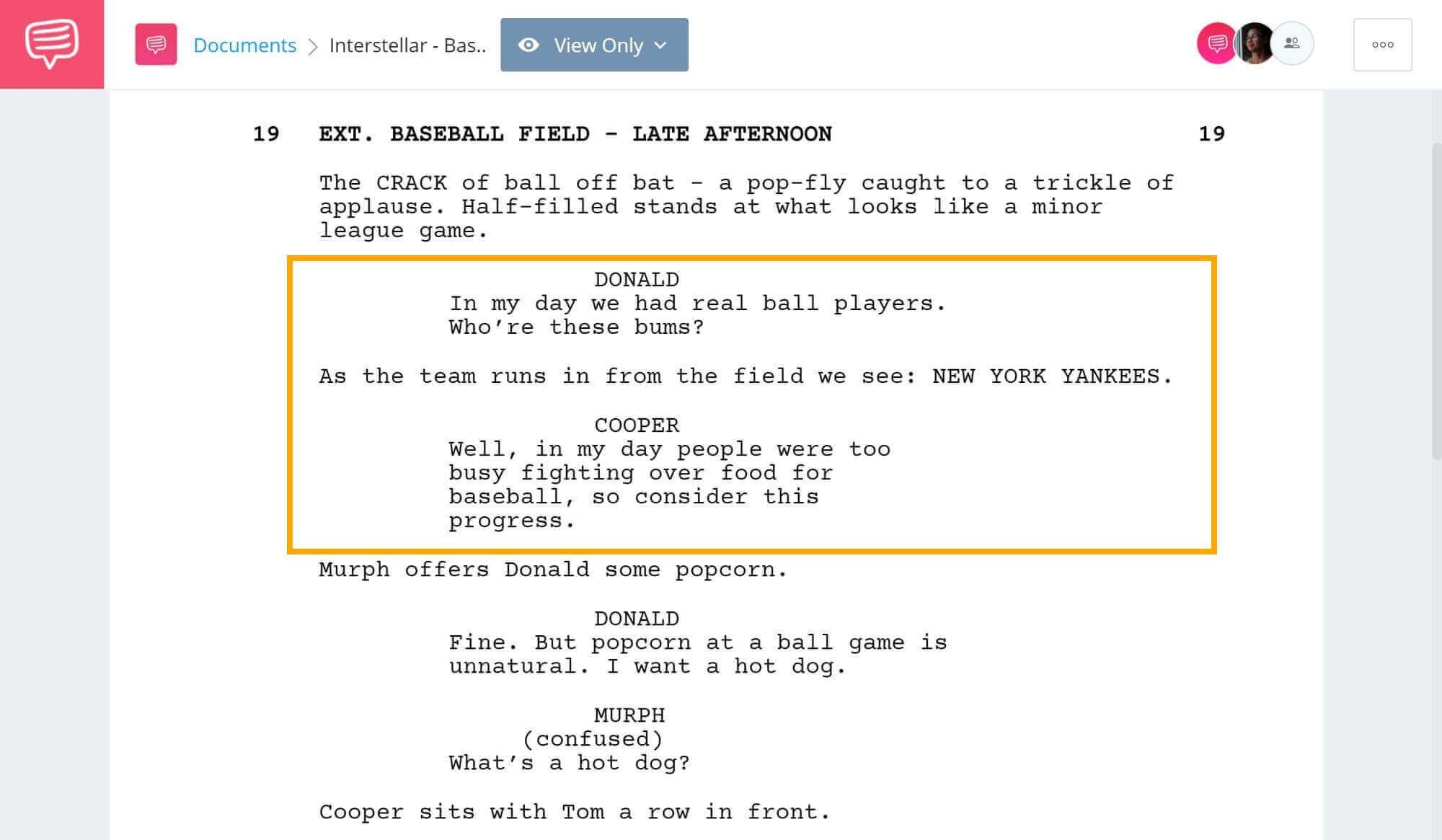 Interstellar Explained - Baseball Scene - StudioBinder Screenwriting Software