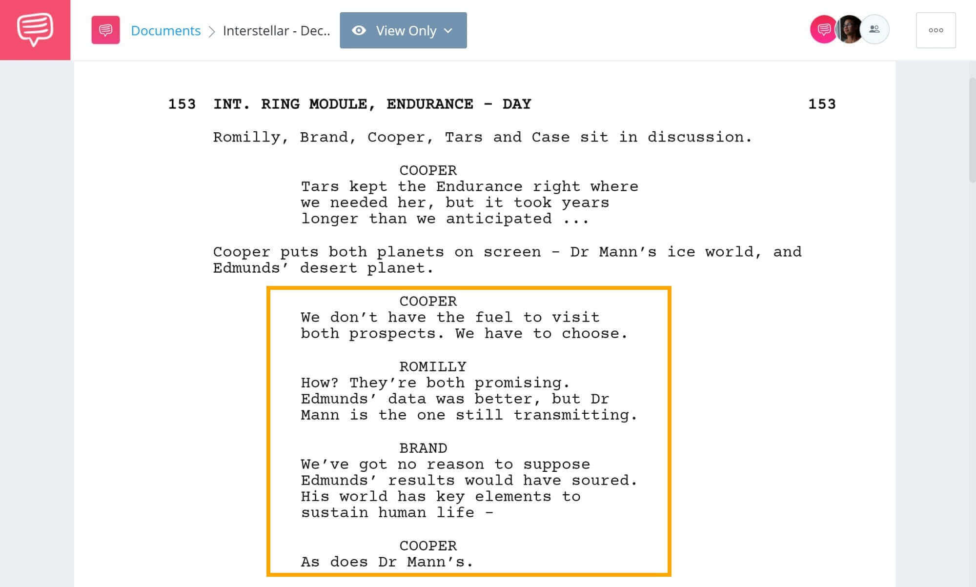 Interstellar Explained - Tough Decision Scene - StudioBinder Screenwriting Software