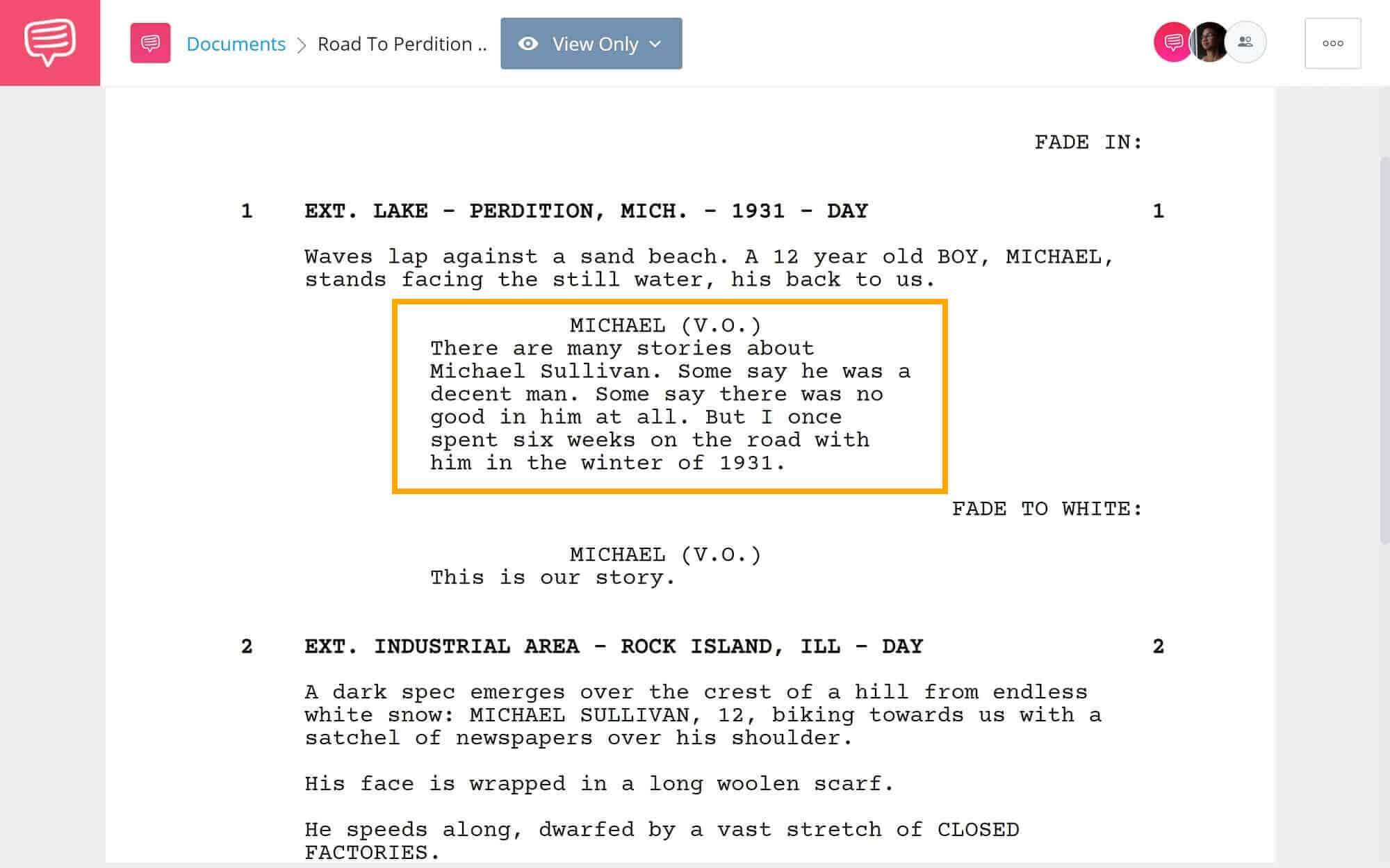 Road-to-Perdition-Revisited-First-Scene-StudioBinder-Screenwriting-Software