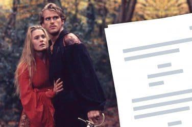 The Princess Bride Script - Featured