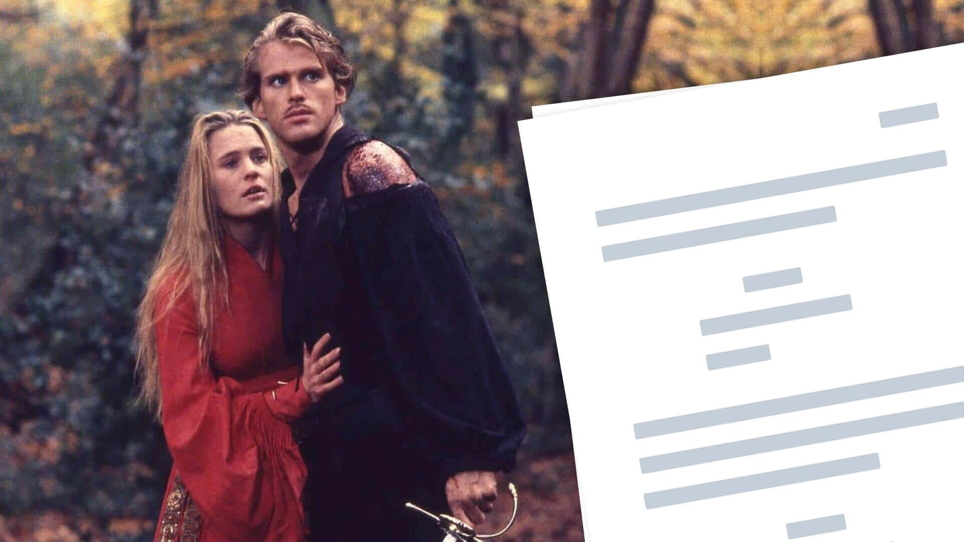 The Princess Bride Script - Featured