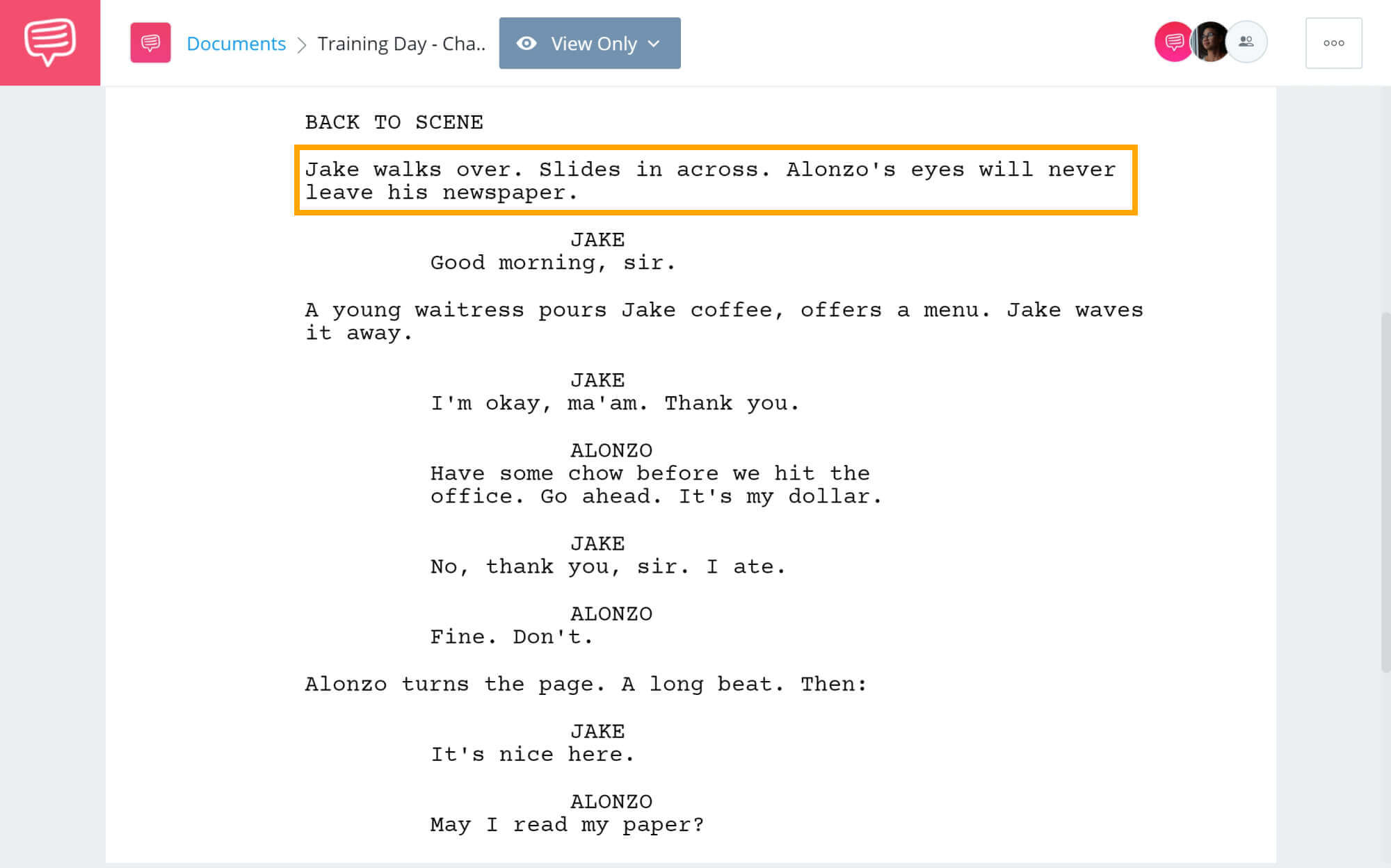 Training Day Script Teardown - Character Analysis Scene - StudioBinder Screenwriting Software