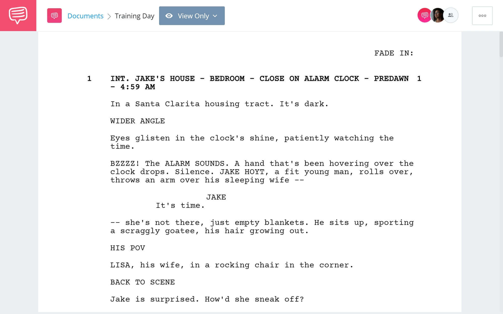 Training Day Script Teardown - Full Script PDF Download - StudioBinder Screenwriting Software