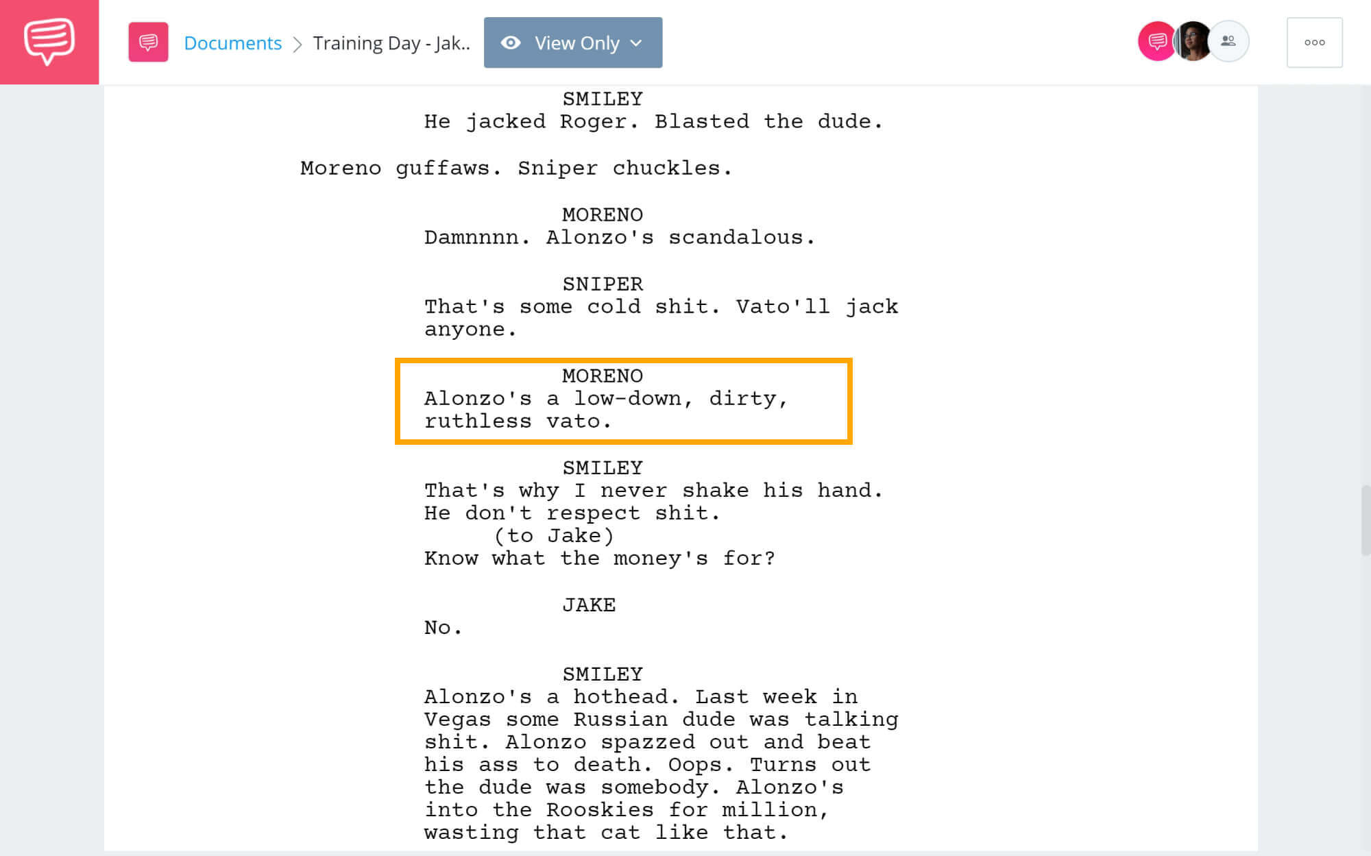 Training Day Script Teardown - Jake's Realization - StudioBinder Screenwriting Software
