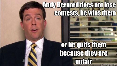 Andy Bernard - The Nard Dog Does Not Lose